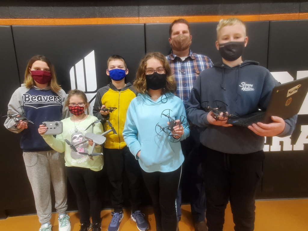 Things are looking up for sixth graders at St. Peter's Lutheran School in Reedsburg.Teacher Matt Dehn introduced drone flying to his...