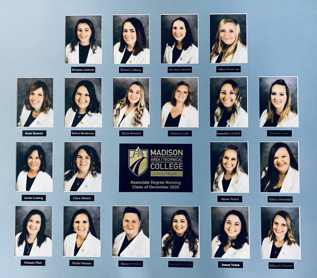 These nursing students graduated from the Madison College-Reedsburg campus following this fall semester. They are as follows.